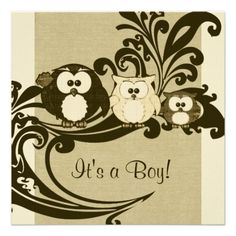 free owl templates | Free Download Templates And Textures Free Baby Girl Announcement Card ...