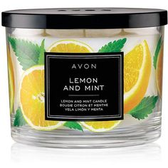 Lemon Scented Candle - Top Quality Scented Candles by AVON ($12) ❤ liked on Polyvore featuring home, home decor, candles & candleholders, avon, scented candles and fragrance candles