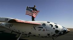 Brian Binnie rides atop SpaceShipOne