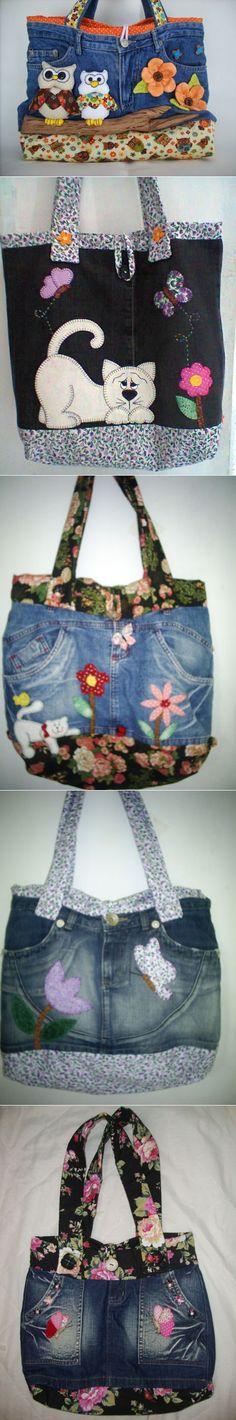 Сумочки из джинс для девочек..