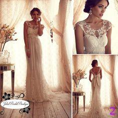 Boho Beach Wedding DressHandmadeSesy dress by JulietBridalBoutique