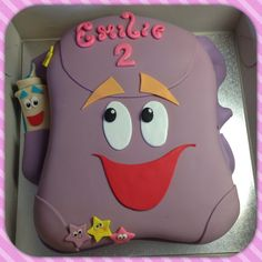 Backpack cake inspired by Dora the Explore cartoons. Designed and executed by Silvia Ramsvik www.silviaramsvik.com Dora Backpack, Dora The Explorer, Sugar Paste, Novelty Cakes, Victoria S, 3rd Birthday, Fondant, Cake Decorating, Cartoons