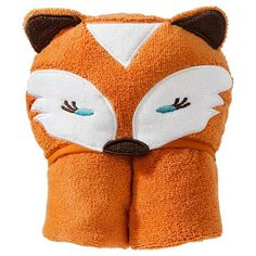 Fox hooded towel -change slightly to make a wolf