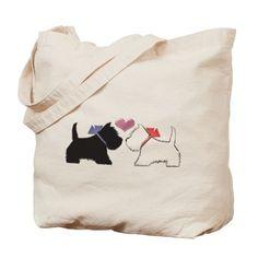Westie Dog Art Tote Bag on CafePress.com