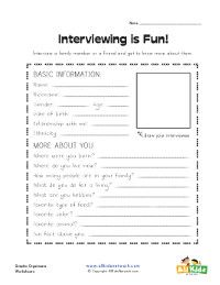 Writing Activity  Interviewing Guide  Graphic Organizer  Free