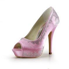 Wedding Shoes - $78.99 - Women's Satin Stiletto Heel Peep Toe Platform Sandals With Rhinestone  http://www.dressfirst.com/Women-S-Satin-Stiletto-Heel-Peep-Toe-Platform-Sandals-With-Rhinestone-047016467-g16467