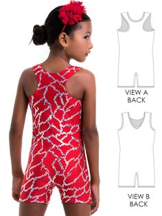 29b959babc Unitard Patterns - Girls - UNITARD 4 - Racer   Scoop back (LU04)