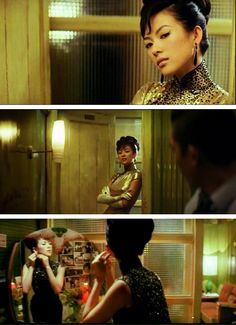 "Ziyi Zhang as Bai Ling 1n ""2046"", directed by Wong Kar Wai in 2004. Costume designer: William Chang."