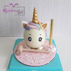 Unicorn Themed Cake, Unicorn Pinata, Cake Designs For Kids, Simple Cake Designs, Cake Decorating Books, Cake Decorating Techniques, Unicorn Cake Design, Chocolate Pinata, Cake Receipe