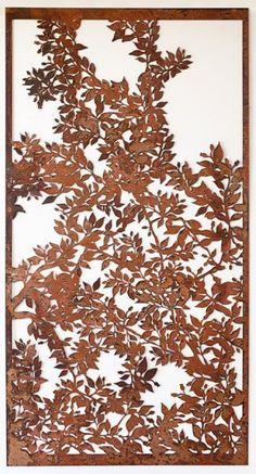 Laser Cut Screens << foliate botanical leaves project panel
