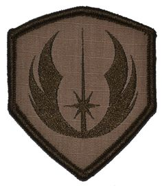 4e21ae0aa44 Jedi Order Shield - 3x2.5 Military Morale Funny Hat Patch with Hook Fastener