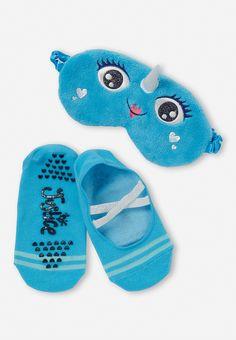 Narwhal Eye Mask & Slipper Sock Set