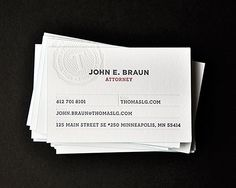 Thomas Law Group Business Cards