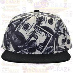 TopCul Money Cash Dollars Hip Hop Rap Gangster Streetwear Snapback Hat Cap – MyCraze #TopCul #Streetwear #HipHop #Cash #Snapback #BaseballCap