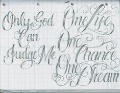 Beautiful job! Tattoo Lettering 16 by 12KathyLees12.deviantart.com