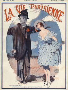 La vie Parisienne, 1920, by Georges Leonnec,