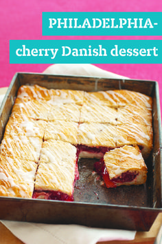 PHILADELPHIA-Cherry Danish Dessert – Skip the line at the bakeshop and make these scrumptious PHILADELPHIA-Cherry Danish Dessert squares at home. Bonus, recipe prep time is just 15 minutes.