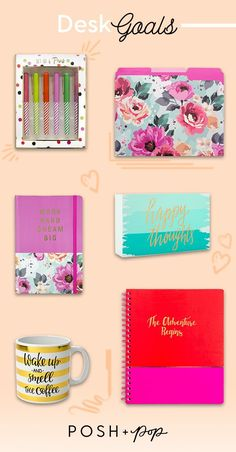 These fun desk items are sure to fulfill your desk goals whether you're working from home or from the office. Great Business Quotes, Planners, Desk Inspiration, Business Class, Desk Accessories, Things To Know, Diy Art, Unique Gifts, Stationery