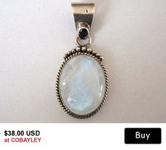 Vintage Moonstone and Sterling Pendant