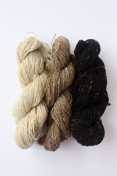Spinning Yarns Weaving Tales -  'Cafe black or cream' 100% Merino Laceweight Yarn sample pack  for Knitting, Crochet, Warp & Weft $14.75 AUD