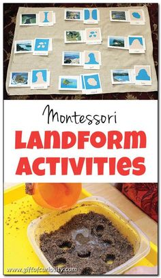 5 fun Montessori landform activities that will help kids recognize basic land and water forms in no time! || Gift of Curiosity