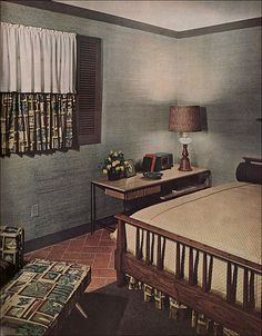 This is totally how I envision our guest room!!   1953 Retro Master Bedroom by American Vintage Home, via Flickr