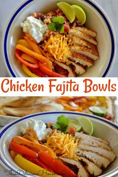 Meal Prep done right with Mexican Chicken Fajita Bowls! So simple to make on a sheet pan and served with healthy Mexican brown rice with black beans and salsa. Fajita Bowl Recipe, Chicken Fajita Bowl, Fajita Bowls, Chicken Fajitas, Barbecue Recipes, Grilling Recipes, Seafood Recipes, Mexican Food Recipes, Meal Prep Bowls