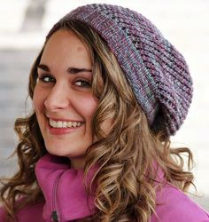 Free knitting pattern for Yarnster Slouchy Beanie Hat
