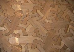 Reptile Pattern Wood Floor Inspired by MC Escher (2)