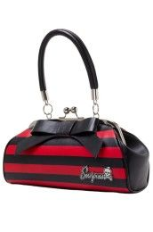 Stripe Black Red Floozy Handbag