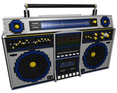 LEGOBLASTER! - LEGO 1980s Ghettoblaster by cosmicxanadu, via Flickr