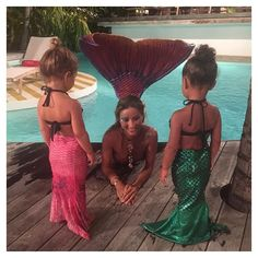 Pin for Later: Hilary Duff, Gisele Bündchen, and More Shared Cute Kiddo Snaps This Week!  North West and Penelope Disick got to swim with a mermaid!