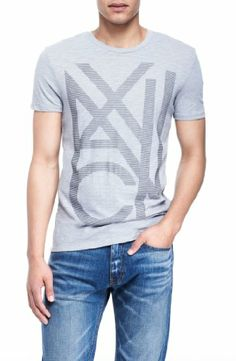 Armani Exchange Mens Overlap Logo Tee. BUY it on Amazon: http://amazonpartner.us/?p=373