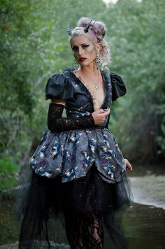 Check out this item in my Etsy shop https://www.etsy.com/listing/245447745/lolita-visual-kei-gothic-villian-dress