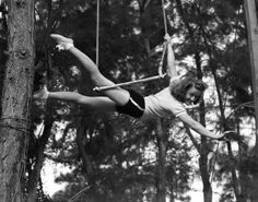 April 5, 1928: Helen Kreis, seventeen, tops the first-ever Wallenda Pyramid in the U.S. The German-born acrobat marries Karl Wallenda in 1935 and continues performing until 1956.