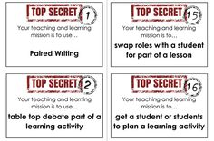 50 cards each with a different teaching and learning mission to encourage and promote creativity within lesson planning. Add some fun to CPD Pe Ideas, Lesson Planning, School Resources, New Job, Third Grade, Some Fun, Classroom Management, 50th, Encouragement