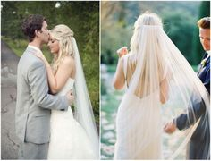Veil placement for long hair