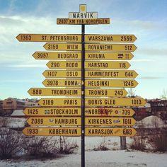 Narvik ,in the arctic circle