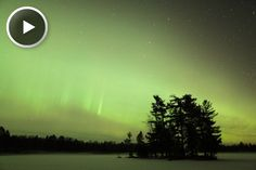 Northern lights in northern USA