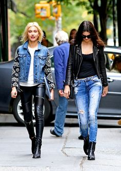 These two #leather + #denim