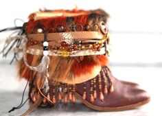 Upcycled Boho Cowboy Boots by TheLookFactory on Etsy Source by FeelingOfFreedom Bootsy Collins, Cowboy Boots, Upcycle, Cool Style, Footwear, Boho, Crocheting, Shoes, Sewing