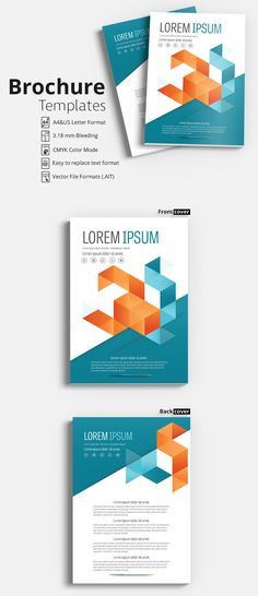 Flyer - Brochure Layout - with Gray and Orange Accents - Flyer - pamphlet layout template