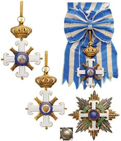 EQUESTRIAN ORDER OF SAN MARINO | Coins la Galerie Numismatique Military Orders, Grand Cross, Military Figures, Makers Mark, Crowns, Badges, Flags, Equestrian, Diamond Cuts