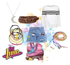 """soy luna"" by maria-look ❤ liked on Polyvore featuring Paul & Joe Sister, Claudie Pierlot, Uniqlo, Carole and Finn"