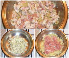Piept de pui la tigaie Potato Salad, Potatoes, Meat, Chicken, Ethnic Recipes, Food, Floral, Potato, Essen