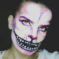 Cheshire Cat Halloween makeup. Tim Burton inspired.