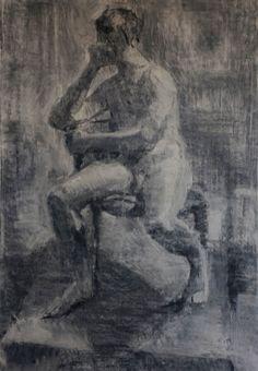 Práce z kurzu figurální kresby za první dva semestry na favu – PETR MUCHA