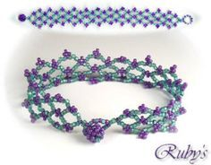 I wanna make that!    http://www.rubysbeadwork.com/LatticeBracelet.html