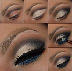 Step by step eyeshadow. Not quite for beginners