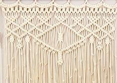 Large Macrame Wall Hanging Window Curtain Boho Tapestry Wall